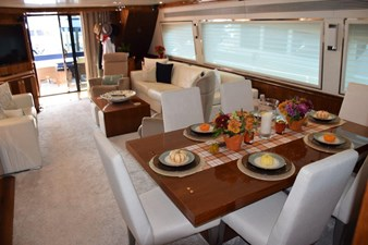 Dining and Salon from Galley