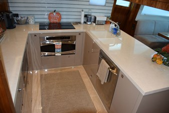 Galley counters and granite sole
