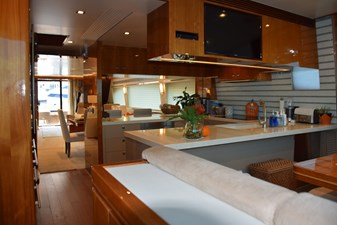 View back to Galley from Dinette, TV
