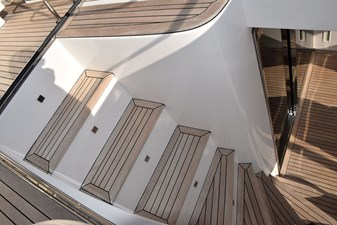Outside stairs down to Aft Deck