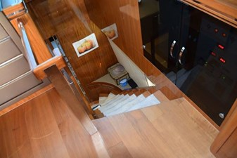 Inside stairs down to Galley area