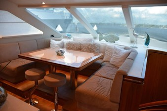 Forward Dinette and stairs to starboard
