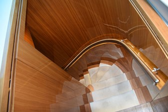 Stairs to owner, guest staterooms