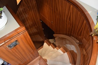 Stairs port salon aft down to crew