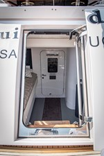 Crew engine room transom door
