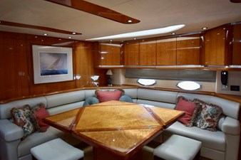 Main Salon with Extended Table from Galley