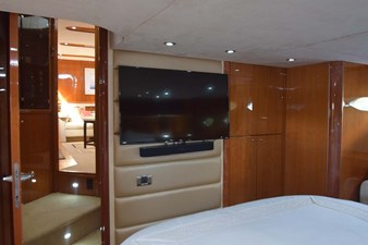 Master Stateroom View to Flat Screen TV