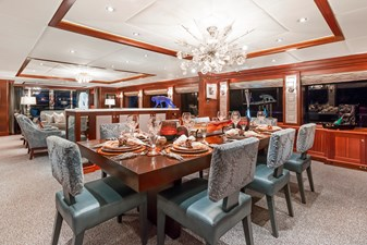 OCEAN CLUB 23 FORMAL DINING: OCEAN CLUB 164' 2009 TRINITY TRI-DECK MOTOR YACHT