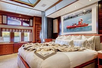 OCEAN CLUB 30 MASTER STATEROOM KING BED: OCEAN CLUB 164' 2009 TRINITY TRI-DECK MOTOR YACHT