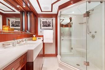 OCEAN CLUB 33 MASTER HIS BATHROOM: OCEAN CLUB 164' 2009 TRINITY TRI-DECK MOTOR YACHT