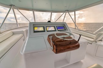 Release Marine Teak Helm Pod with Single Lever Controls Including Bow Thruster