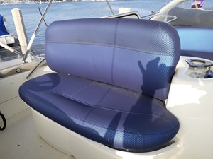 Re-Upholstered Flybridge Helm Seat