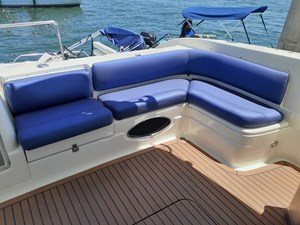 Re-Upholstered Aft Deck Seating