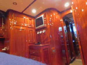 Master stateroom closets and tv