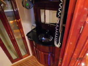 Master stateroom bath, note large shower stall