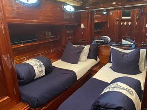 Guest stateroom, has its own head, berths can be merged creating large double