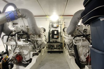 Blue Lobster engine room - cleanest you'll ever see