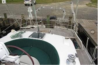 Aft deck from cockpit