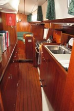 Galley from aft cabin to salon