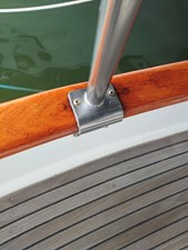 Teak deck and cap rail in very good condition
