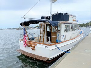 New canvas main deck bimini,  flybridge cover and dodgers