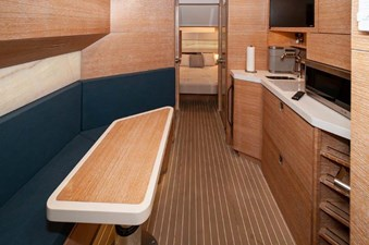 Salon to Port and Galley to Starboard
