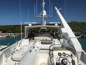 MON SHERI 74 Boat deck looking forward