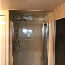 Starboard twin cabin shower