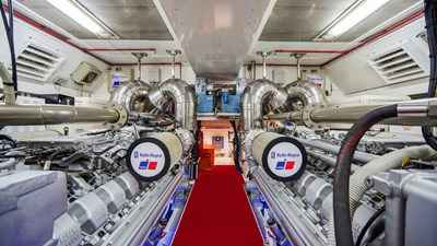 Vanish 92 Mangusta Motor Yacht  Engine Room