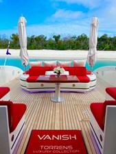 Vanish 92 Mangusta aft deck view