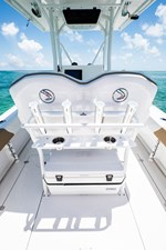 EdgeWater-245cc-Helm-Leaning-Post-w-Rod-Holders-and-Cooler
