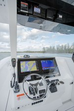 EdgeWater-262cx-Helm-Electronics-Box-Garmin-electronics-Seastar-Optimus-360-Autopilot