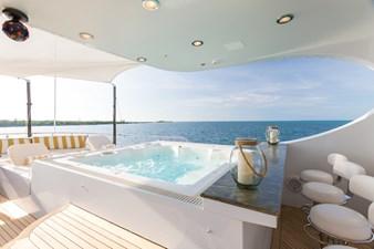 Sun Deck Hot Tub and Bar