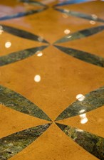 Upper Deck Foyer Marble Inlay Detail