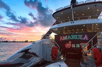 Amarula Sun 56 Transom At Sunset