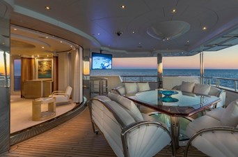 Owner's Private Deck Looking Aft to Starboard