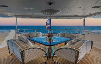 Owner's Private Deck Looking Aft