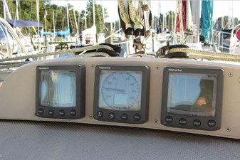 Nav instruments at companionway