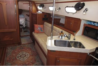 Galley sink and salon starboard
