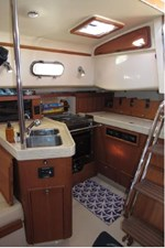 Galley with fridge and freezer closed