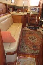 Starboard settee and galley