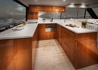 Riviera 54 Enclosed Flybridge Galley 01