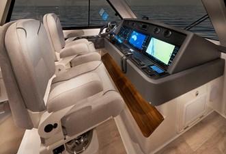 Riviera 54 Enclosed Flybridge Helm 01