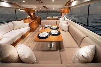 Riviera 54 Enclosed Flybridge Saloon 01