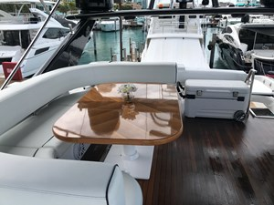 72' Uniesse Flybridge Table
