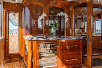 LADY BAHI 137 aft deck wine storage