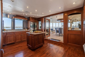 LADY BAHI 137 galley looking aft