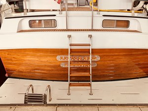2.2 Little Red 1984 Grand Banks 49 MY stern view 1