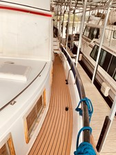 6 Little Red 1984 Grand Banks 49 MY port side deck