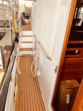 7  Little Red 1984 Grand Banks 49 MY Starboard Side Deck